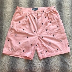🐎 Polo By Ralph Lauren Shorts Mens 36 Pink Horses